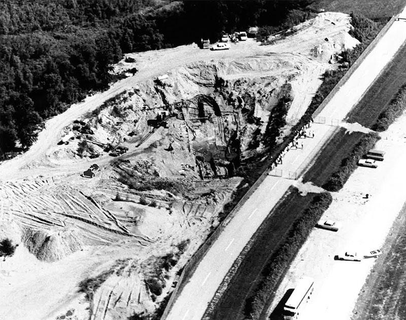 Aerial View of Bertrand Excavation