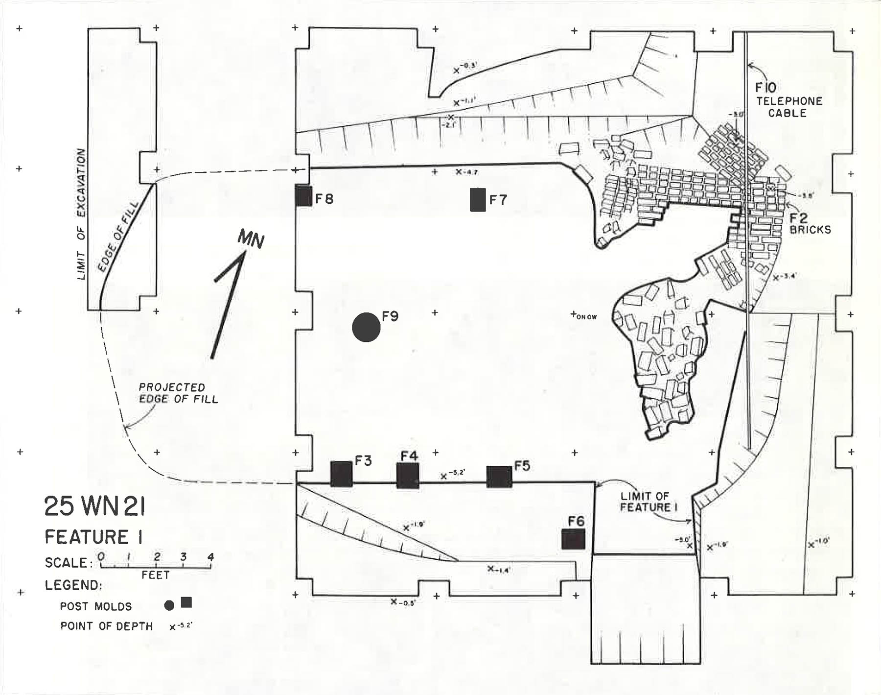 Cuming City Nebraska - Cellar Plan View Map