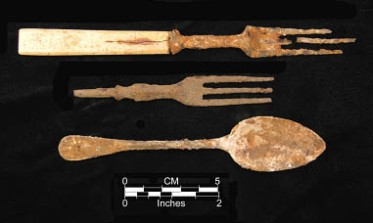 Cutlery from the Rockport Townsite.