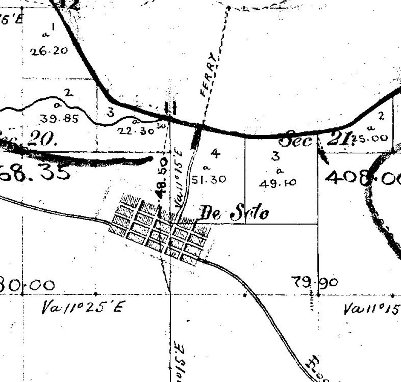 De Soto Nebraska GLO Map 1856