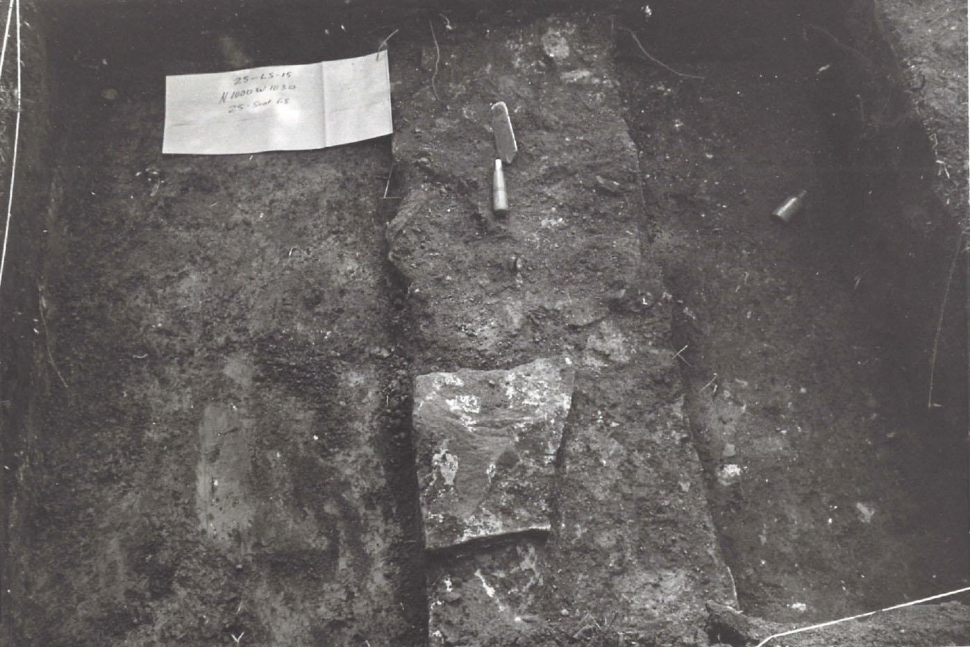 1968 Excavation - Foundation, Bottle
