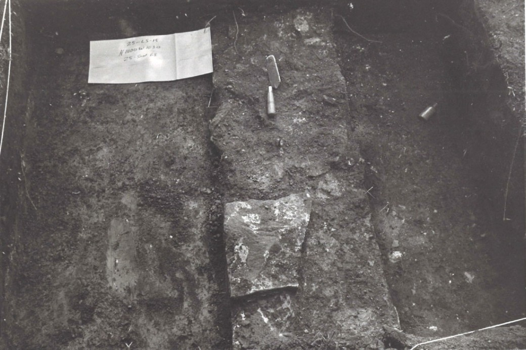 1968 Excavation - Foundation, Bottle