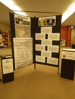 Nebraska Archaeology Month Display at Bennett Martin Public Library in Lincoln